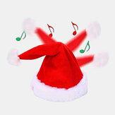 Unisex Pamuk Noel Batarya Müzik Oyuncak Çocuklar İçin Elektrikli Noel Hediyesi Santa Cap