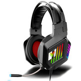 M8 7.1 Channel Gaming Headset RGB Wired Game Headphone Adjustable Bass Stereo Headset with Mic for Computer PC Gamer