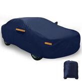 Cobertura completa azul escuro para carro à prova d'água Sol Chuva Calor Poeira UV Proteção resistente