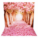 2 x 1.5m Beautiful Flower Street Studio Vinyl Photography Backdrop Photo Background