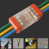 LT-33 3Pin Quick Wire Connector Lampu LED Listrik Kompak Universal Push-in Butt Conductor Terminal Block 450V