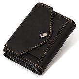 Men Retro portfel na pieniądze o dużej pojemności automatyczne automatyczne wysuwanie etui na karty kredytowe RFID blokowanie kieszeni na gotówkę mężczyzn prezenty biznesowe