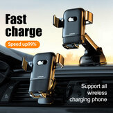 joyroom 15w Qi support de téléphone de voiture de charge rapide sans fil support de chargeur rapide infrarouge intelligent support de téléphone de voiture pour téléphone intelligent de 4,4 à 6,5 pouces pour iPhone 11 pour Huawei