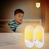 2 adet 0.7 W Işık Sensör & PIR Hareket LED Gece Duvar Lamba Bebek Çocuk Yatak Odası Için AC100-240V