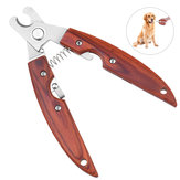Wooden Handle Pet Nail Clipper Multi-Functional Dog Nail Trimmer Practical Stainless Steel Clipper