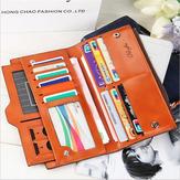Women Oil Leather Ultrathin Wallet Muti Card Slots Purse