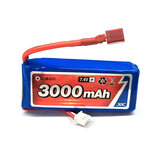 Eachine 7.4V 3000mah 30C Lipo البطارية T Plug For 1/12 Eachine EAT04 Wltoys 12428 12423 Feiyue RC قطع غيار السيارات