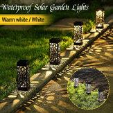 Solarbetriebene Outdoor LED Lawn Light Wasserdichte hohle Gartenlampe Yard Path Decor