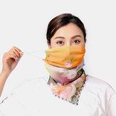 Mujeres Máscaras de impresión transpirables Montado en la oreja Cuello Protección Protector solar Bufanda Anti-UV Bandana
