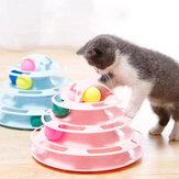 Следы для кошек, игрушка для кошек, четыре уровня интерактивной игровой круговой дорожки с движущимися шариками, забавная игрушка-головол