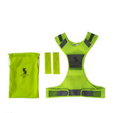 Running 360° Reflective Vest Kids Adjustable Waist Night Safety Vest with Reflective Bands for Electric Bike Scooter Motorcycle Cycling