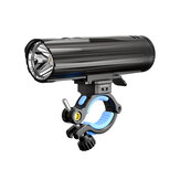 WUBEN B2 1300LM Bike Light Set 6 Modes USB Type-C Rechargeable Bicycle Front Headlight with Back Taillight LED Flashlight