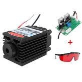 Focusable Alto Power 2.5W 450nm Azul Laser Módulo TTL 12V Esculpindo óculos grátis