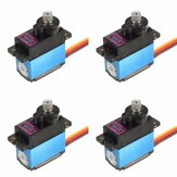 4X MG90D 13g Metal Gear Digital Servo untuk Model RC