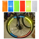OUTERDO 1pc Fluorescent Bike Reflective Stickers MTB Road Cycling Motorcycle Car Wheel Tire Strip Decal Tape Safety Bicycle Accessories
