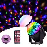 Upgrade Mini 6 Farben Kristallkugel LED Bühne Licht Stimme Fernbedienung Lampe für Bar KTV Party Disco