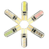 T10 W5W COB LED Car Side Wedge Marker Lights Canbus Error Free License Bulb Soft Gel 2W 1Pcs