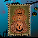 30x45 centimetri di Halloween poliestere zucca benvenuto giardino bandiera decorazione vacanza