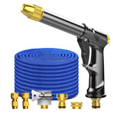 High Pressure Car Washer Tool Spray Adjustable Water Jet With 50FT Expandable Garden Hose Foam Pot Cleaning Water Tool