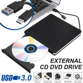 Slim External USB 3.0 DVD RW CD Writer Drive Burner Reader Player For Laptop PC*