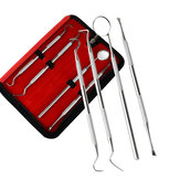 4 Stks Dental Mirror Rvs Dental Tools Kit Mond Spiegel Dental Kit Instrument Dental Pick