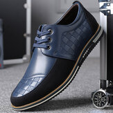 Men Microfiber Leather Splicing Antiderrapante Soft Business Casual Shoes
