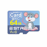 Estrella TF-geheugenkaart C10 V60 U3 32G 64G 128G Smart Card met SD-kaartadapter Cartoon-stijl