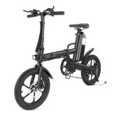 CMSBIKE F16-PLUS 13Ah 250W Negro 16 Pulgadas Bicicleta eléctrica plegable 25km / h 80km Kilometraje Sistema inteligente de velocidad variable Bicicleta eléctrica bici electrica