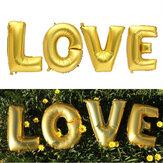 4ピースゴールドシルバーラブセットマイラー箔風船誕生日結婚式パーティーの家の装飾