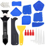 23Pcs Silicone Sealant Remover Tool Kit Applicator Grout Scraper Reuse Sealant Caulking Tool for Kitchen Bathroom Window Sink Joint