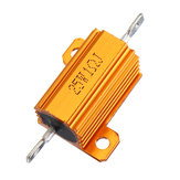 20pcs RX24 25W 1R 1RJ Metal Aluminum Case High Power Resistor Golden Metal Shell Case Heatsink Resistance Resistor
