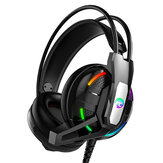 Game Headphone 3.5mm Bass RGB Gaming Wireless Rotatable Foldable Over-Ear Headset Stereo Sound Headphones