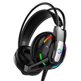 ゲームヘッドフォン3.5mm低音RGBゲームワイヤレス回転式折りたたみ式オーバーイヤーヘッドセットステレオサウンドヘッドフォン