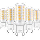 KingSo 6Pcs G9 AC 230V 5W 3000K Dimmbar LED Lichter mit 33PCS 2835 Lampenperlen PC Lampenschirm Keramiksockel