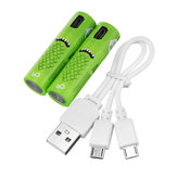 2PCS SMARTOOOLS USB Rechargeable AA/No.5 Ni-MH Battery