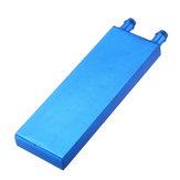 40*120 0.5mm Blue Aluminum Alloy Water Cooling Block Radiator Liquid Cooler Heat Sink Equipment