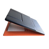 Multifunction Laptop Stand Portable Foldable Artificial Leather Laptop Holder Notebook Tablet