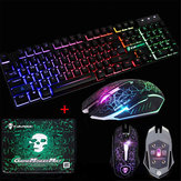 LED Backlit Gaming Keyboard + 2400 DPI Maus Sets + Mauspad USB Kabel Tastatur Set