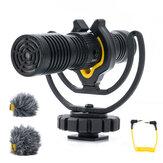 Aputure Deity V-Mic D4 Duo Mini przenośny mikrofon Dyktafon Wywiad Podwójny mikrofon kardioidalny do telefonu komórkowego Live Vlog Action Cam Kamera DSLR