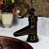 Oil Rubbed Bronze Waterfall Bathroom Basin Faucet Single Handle Hole Mixer Tap