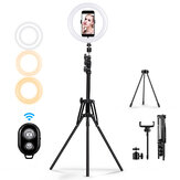 MOHOO 160cm 10 inch 3 Mode Warna 10 Tingkat Kecerahan USB Video Light Tripod Stand untuk Tik Tok Youtube Streaming Langsung