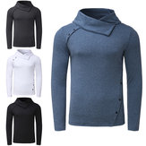 Men's Long Sleeve T-Shirt Casual Collar Turtleneck Top Sweatshirt Cycling Running Sports Shirt