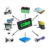 12V 8-70V LCD-zuur Lood Lithium Batterij Capaciteitsindicator Multifunctionele digitale voltmeter Calculator