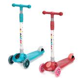 2-7 Yaş Çocuk Hediyesi için 3 Işıklı Tekerlekli Çocuk Scooter Ayarlanabilir Yükseklik