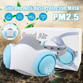 Silicone Mask PM2.5 Anti-dust Mask Dust Respirator Washable Reusable Mask