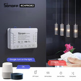 SONOFF® 4CH Pro R2 10A 2200W 2.4Ghz 433MHz RF Inching / Self-Locking / Interlock Smart Home Module WIFI Wireless Switch APP Uzakdan Kumanda AC 90V-250V / 5-24V DC Din Ray Montaj Ev Otomasyon Modülü