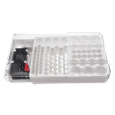 93 Batterie Storage Caddy Box Case Holder Organizer Capacity Rack W Tester