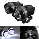 2pcs 12v 30w moto u3 LED angel eye guida nebbia spot fanalino anteriore bianco hi/lo