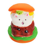 Squishy Cat Hamburger 10 * 8cm Slow Rising Toy con confezione regalo Borsa