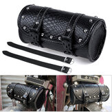 PU Leather Mountain Bike Motorcycle Front Fork Tool Bag Pouch Luggage SaddleBag For Touring Long Riding